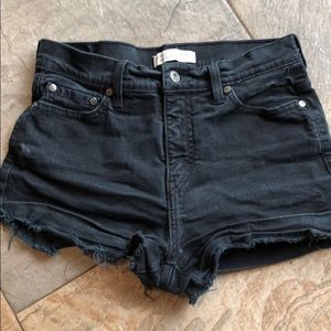 Levi cut off shorts black high waisted